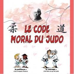 Haut du  Kakemono code moral du Judo