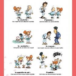 Bas du  Kakemono code moral du judo, Erel Editions